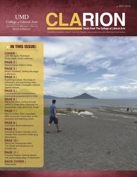 UMD College of Liberal Arts CLArion newsletter 2017-18