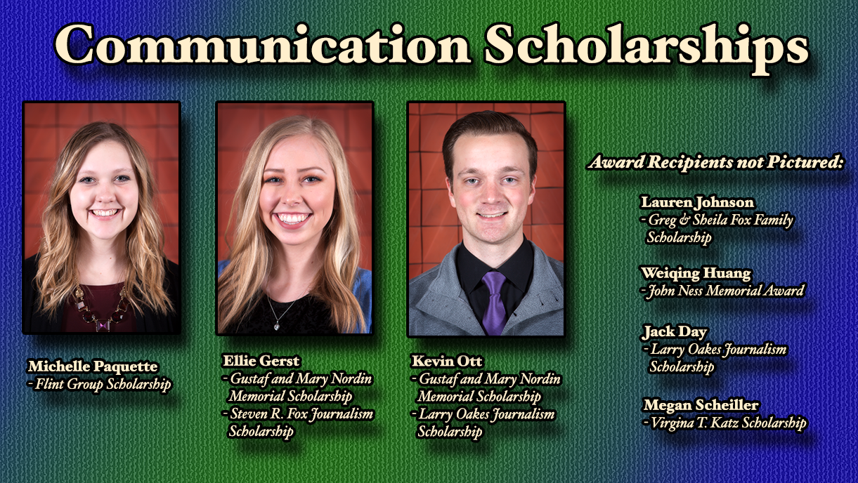Communication Scholarships Recipients