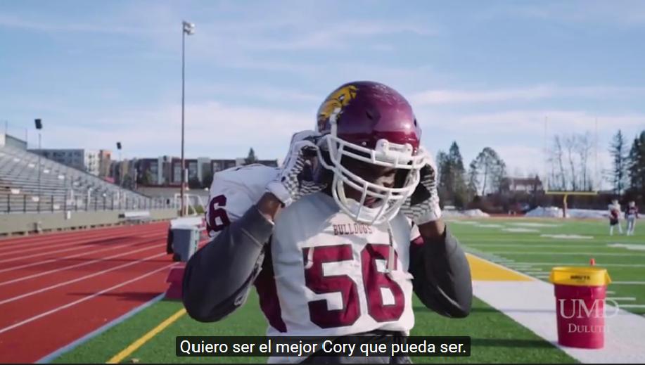 Cory Dixon athlete and Hispanic Studies major
