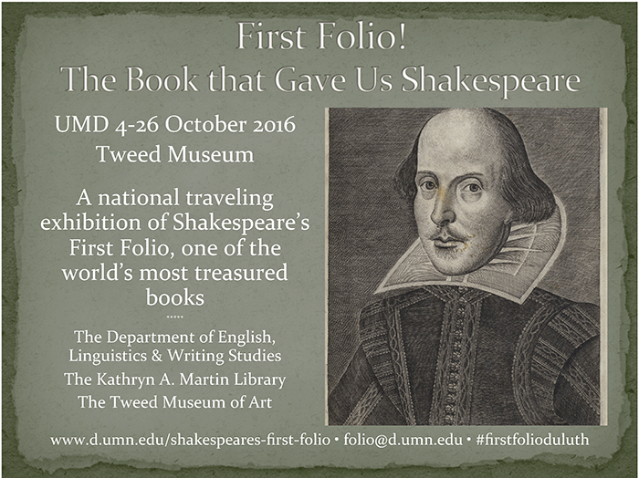 First Folio Duluth!