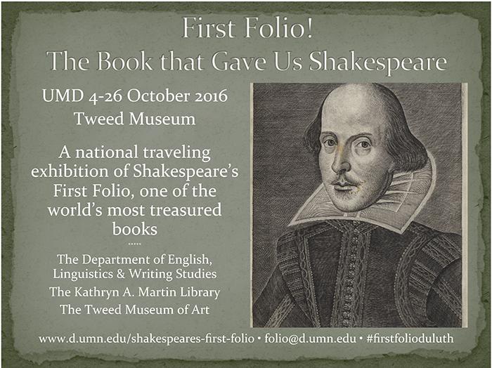 First Folio Duluth!