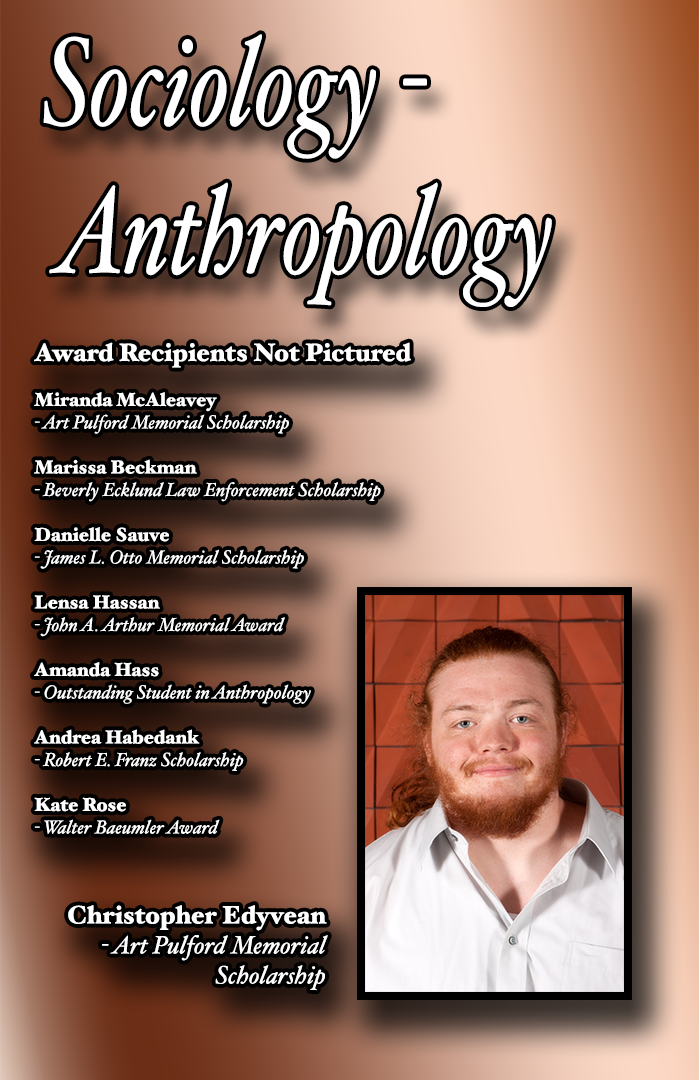 Sociology - Anthropology Scholarship Recipients