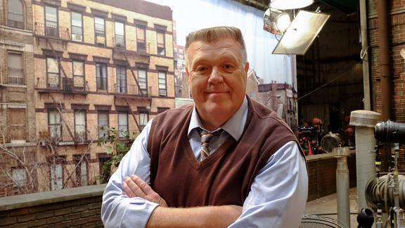 "Joel McKinnon Miller (Class of 2007) on the set of  ""Brooklyn Nine-Nine"""