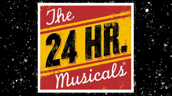 24 Hour Musical's Logo with black background