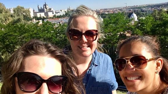 Jennifer Brady with friends in Toledo Spain