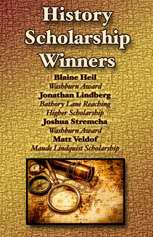 Poster: History scholarship winners