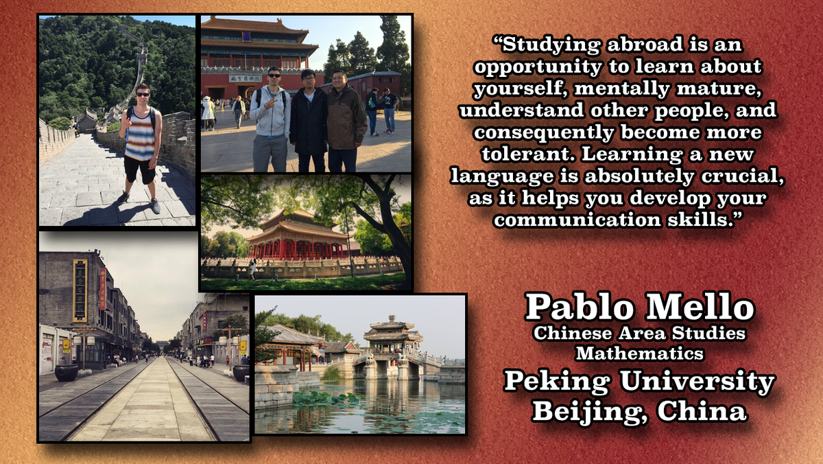 Study Abroad Image of Pablo Mello in China