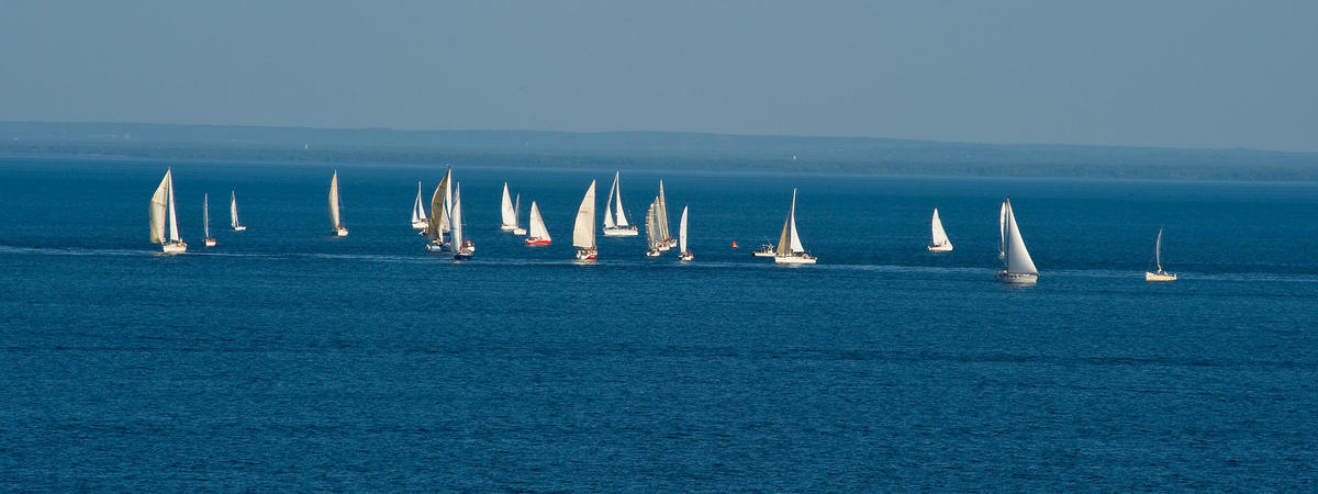 Sailboats in on Lake Superior