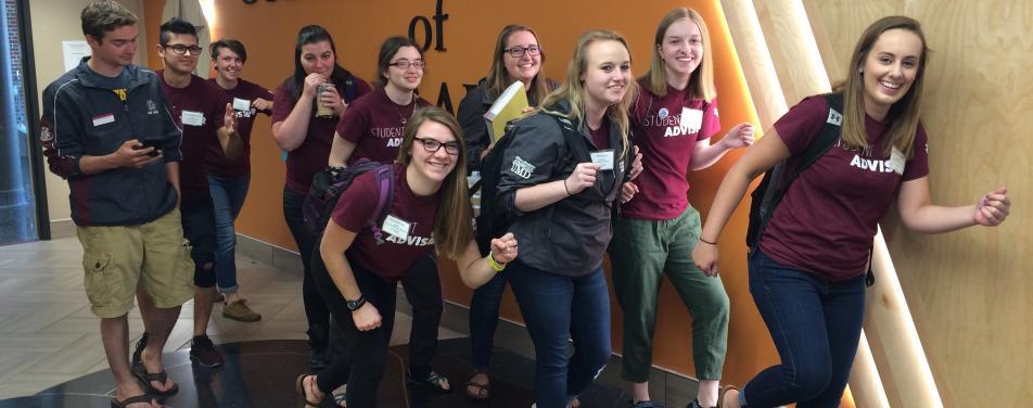 CLA student advisors for orientation