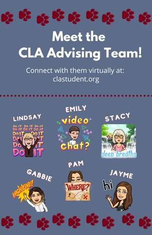 Poster of CLA Advising Team staff