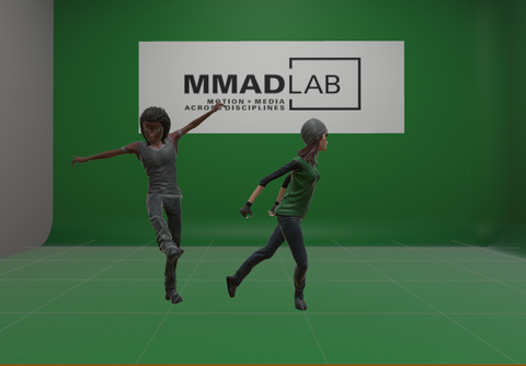 3D models of dancers for the dance conference