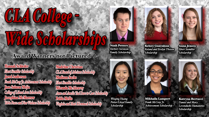 Poster: CLA Wide Scholarship Winners