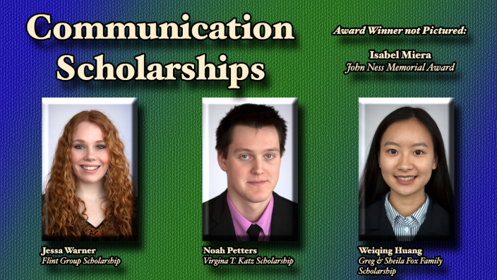 Poster: Communication Scholarship Winners