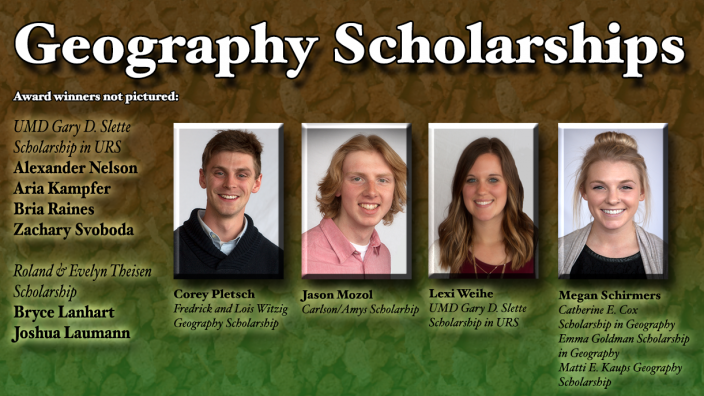 Poster: Geography Scholarship Winners