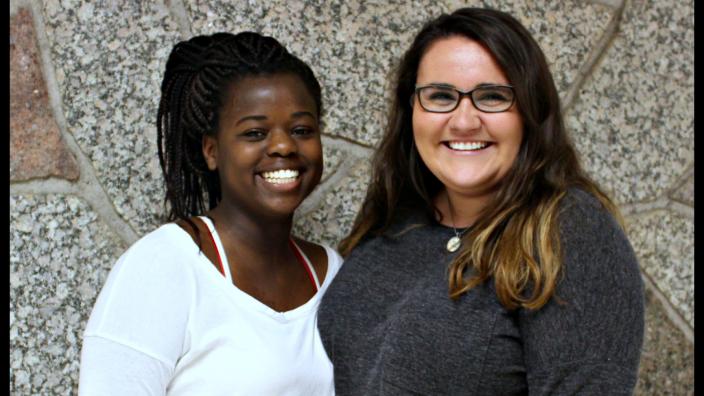 Photo: Ndina and Gabbie, Peer Advisors