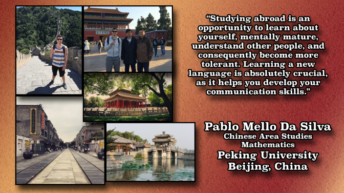 Study Abroad photo of Pablo in China
