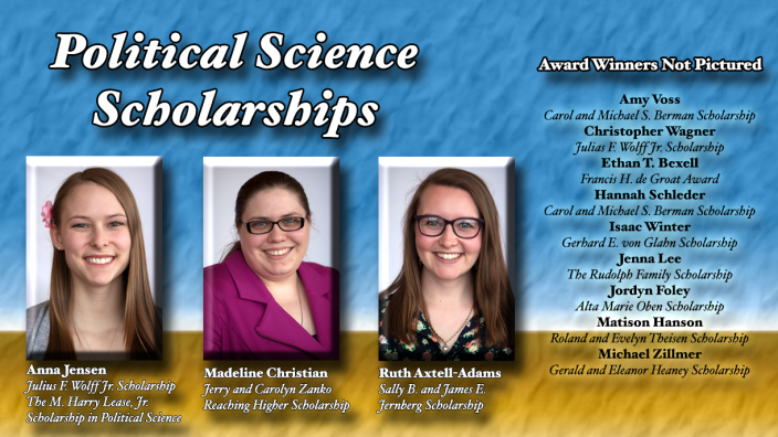 Poster: Political Science Scholarship Winners