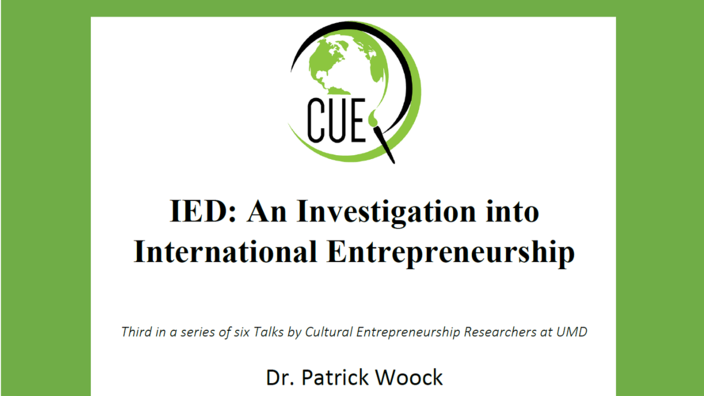 Cultural Entrepreneurship Talk 11 Oct 2018