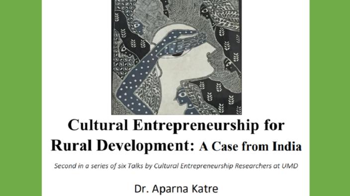 Cultural Entrepreneurship Talk 27 Sept 2018