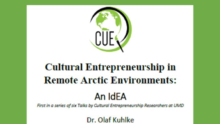 CUE Speaker Series Sept 13