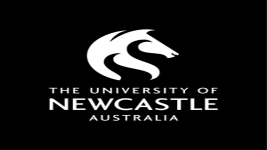 black background with horse head image and logo for university of newcastle australia