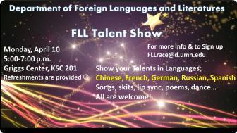 Talent Show Poster April 10