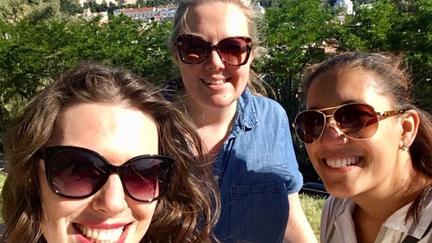 Jennifer Brady with friends in Toledo Spain