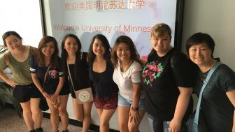 Weiqing Zhang with students at Ocean University China