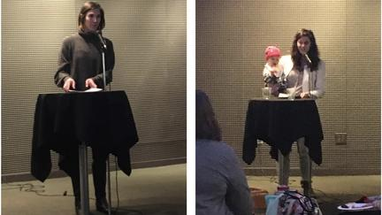 Whitney Jacobson and Sara Sowers read at Zeitgeist