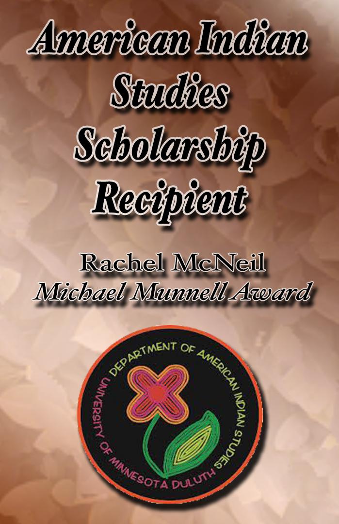 American Indian Studies Scholarship Recipient