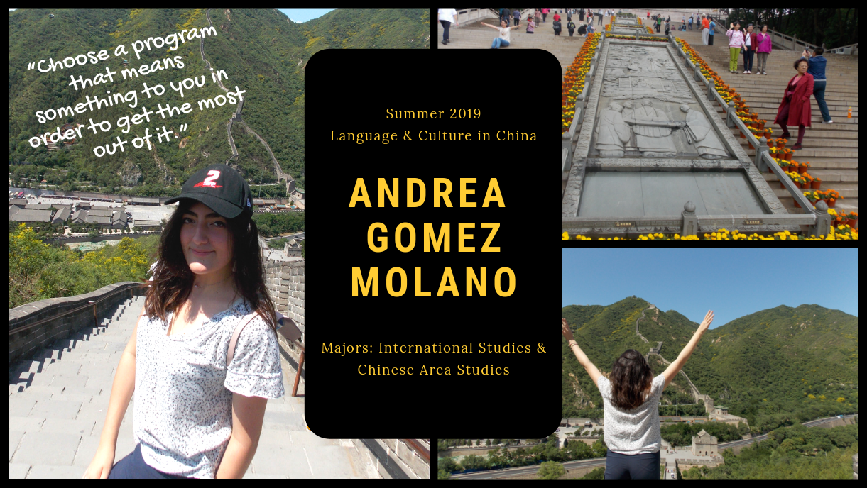 Andrea study abroad in China Summer 2019