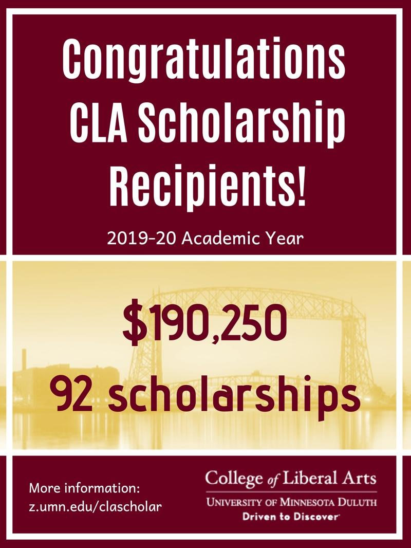 CLA scholarship awards exceeded $190,000