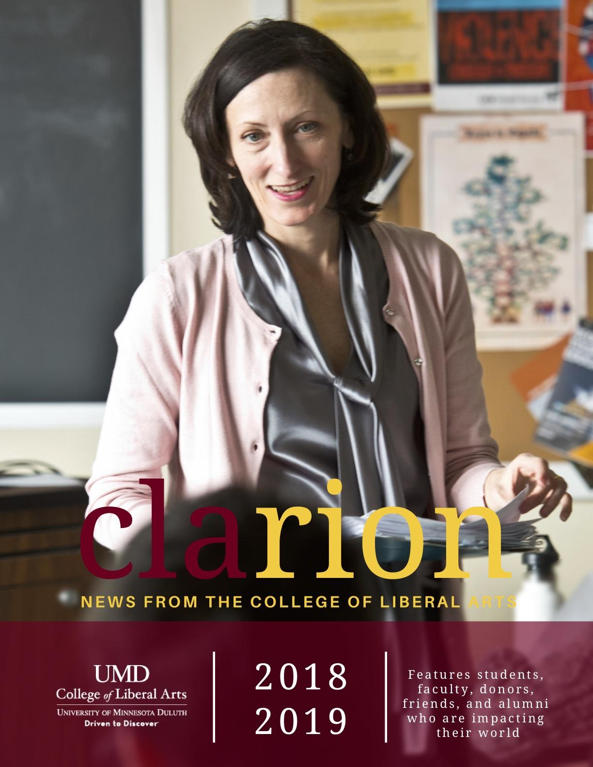 UMD College of Liberal Arts CLArion newsletter 2019