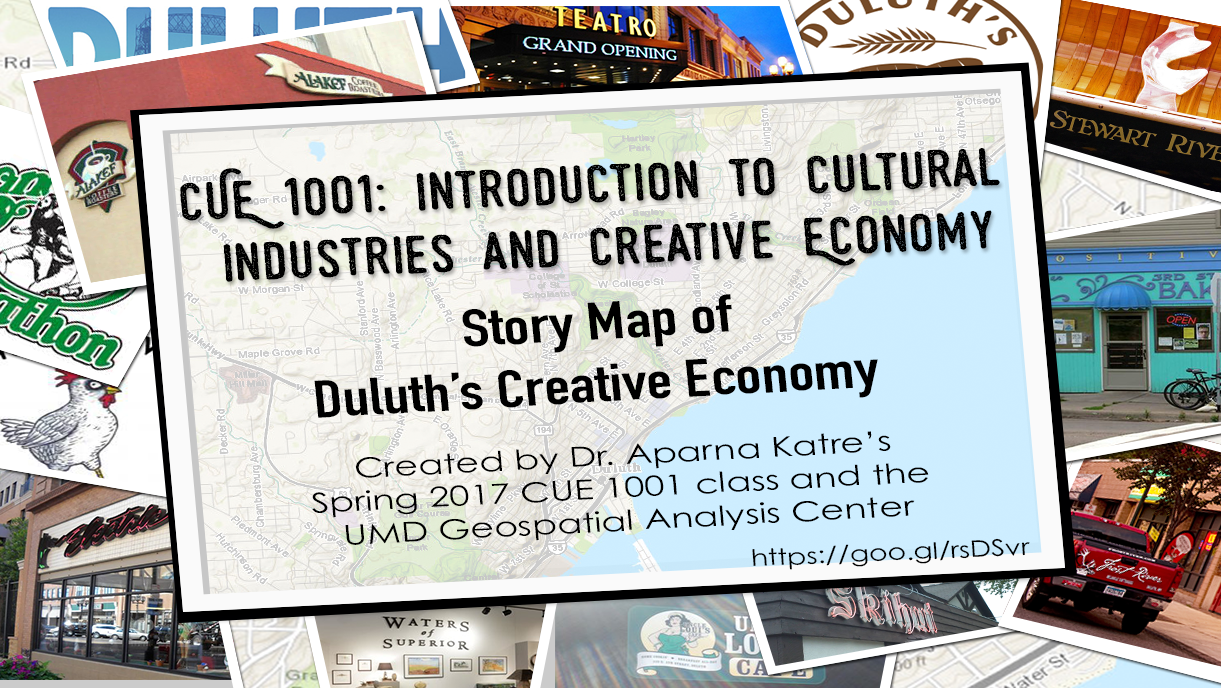 CUE 1001 Introduction to Cultural Industries and Creative Economy Story Map