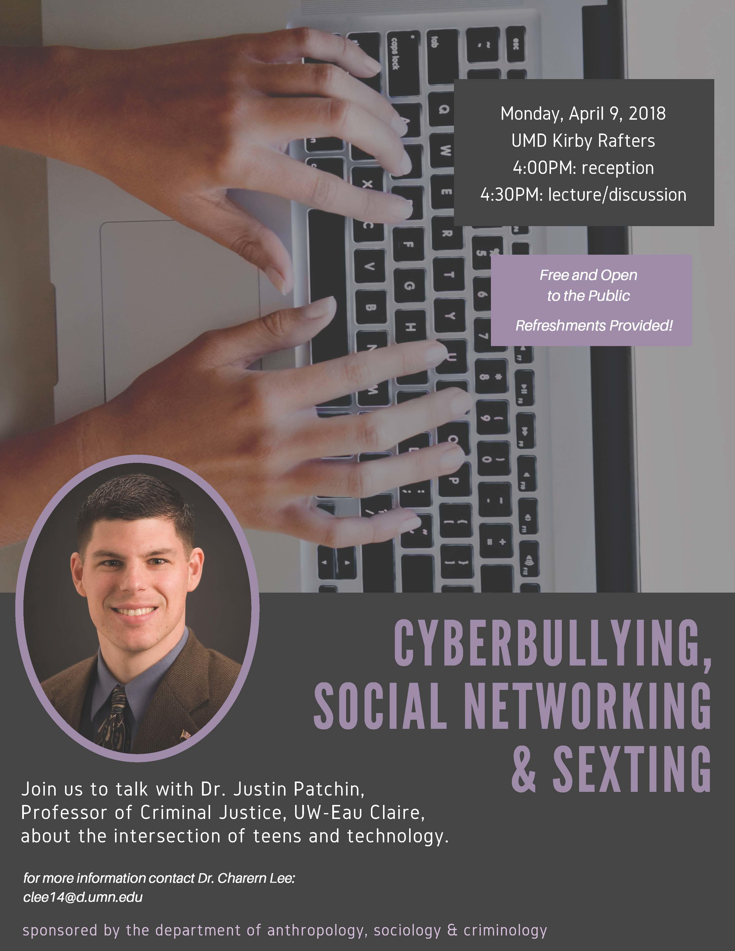 poster advertising cyberbullying event.