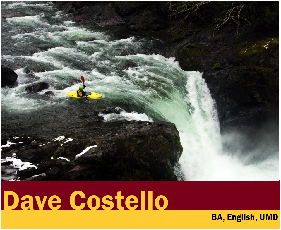 Photo of Dave Costello kayaking