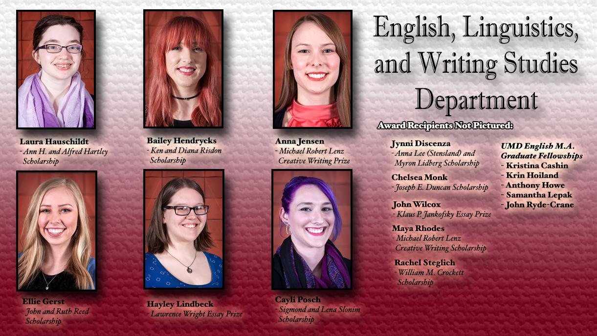 English, Linguistics, and Writing Studies Scholarships