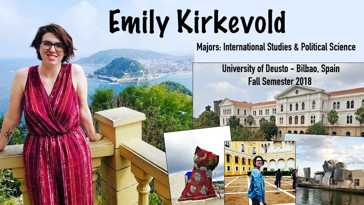 Emily Kirkevold study abroad Bilbao, Spain