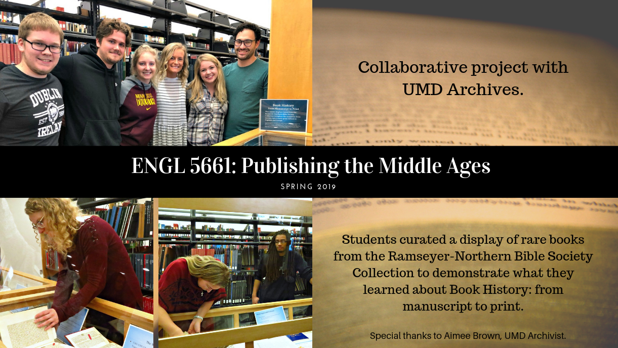 ENGL 5661 Publishing the Middle Ages