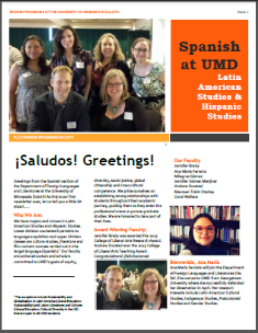 Hispanic Studies Newsletter Aug 2015