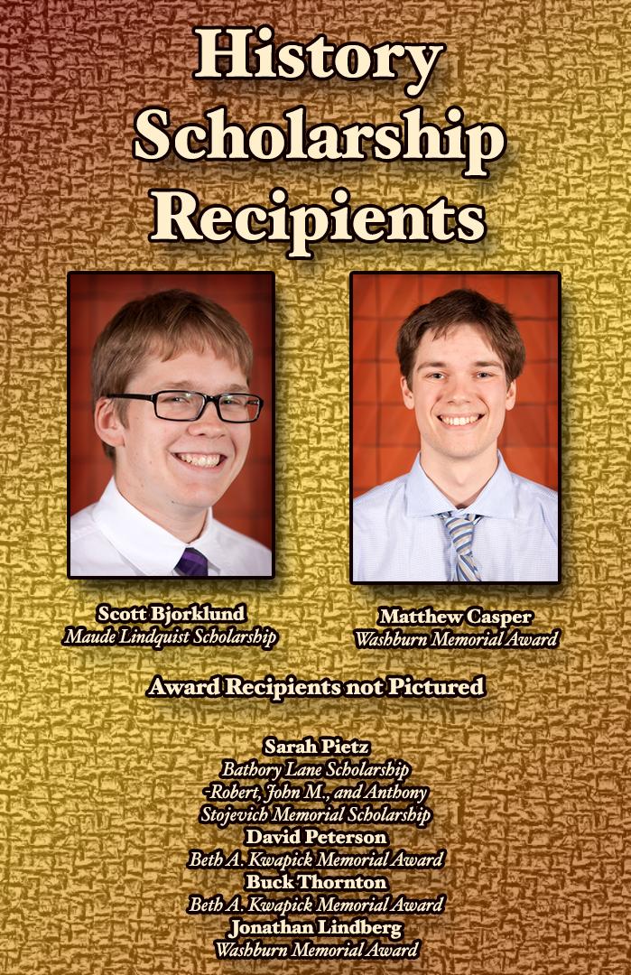 History Scholarship Recipients