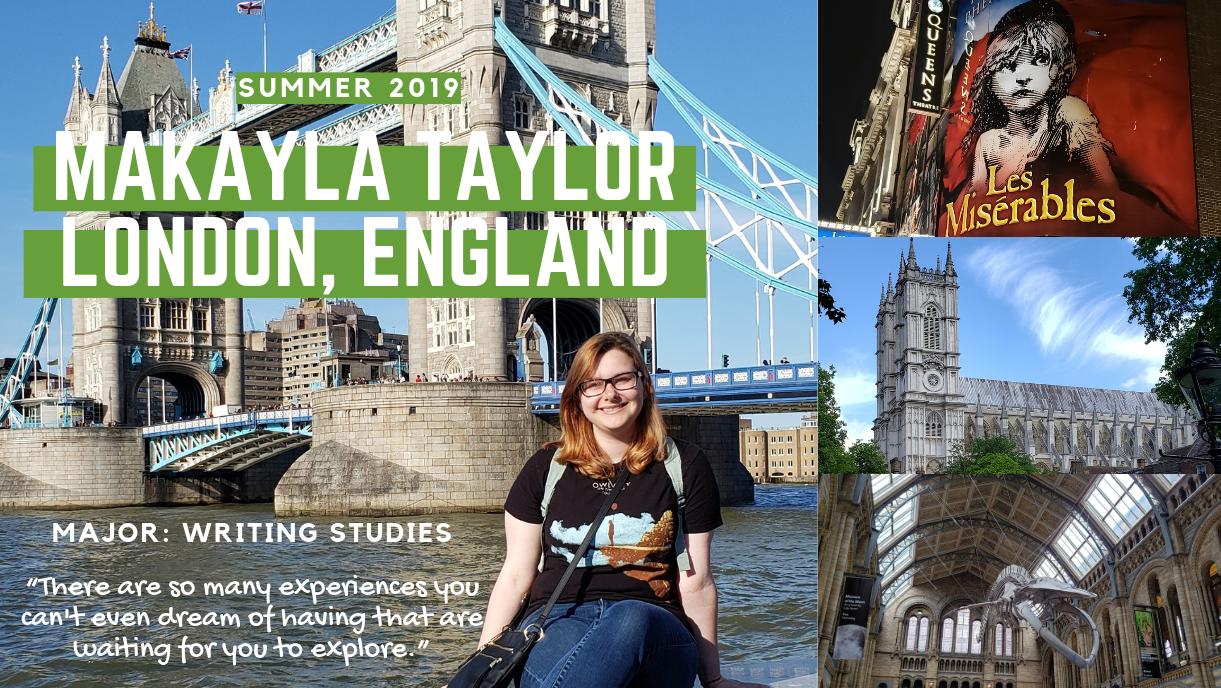 Makayla Taylor study abroad in London