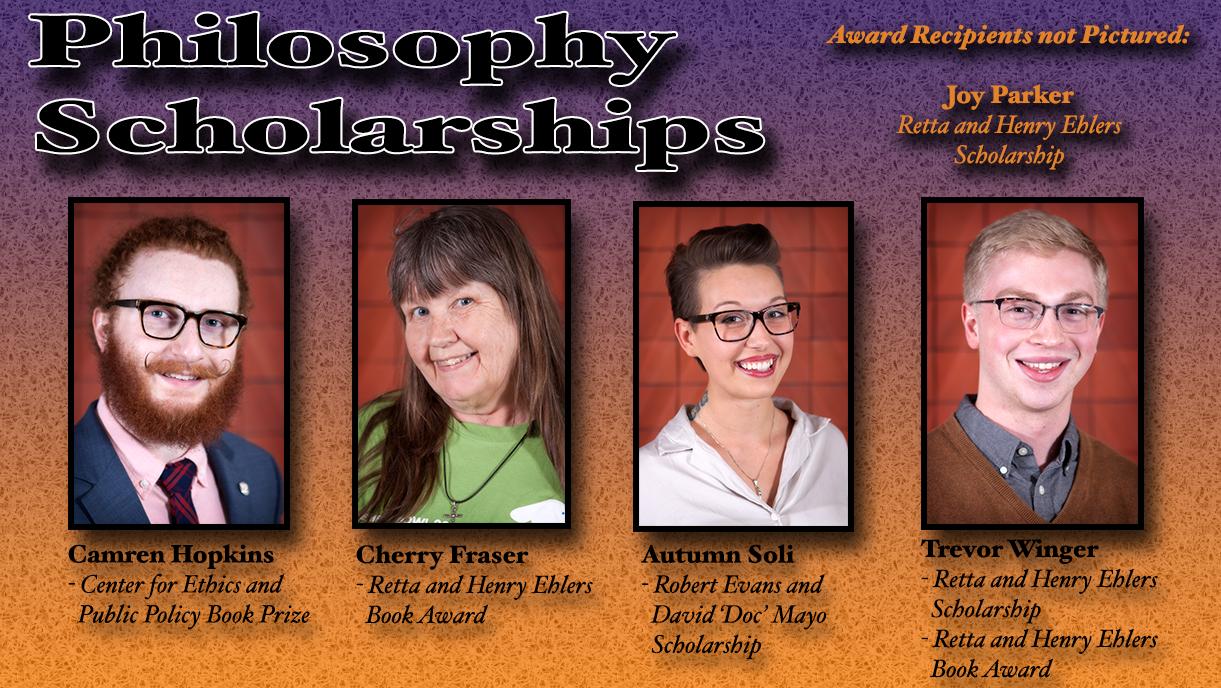 Philosophy Scholarship Recipients