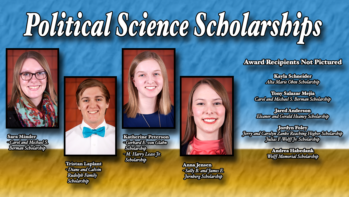 Political Science Scholarship Recipients