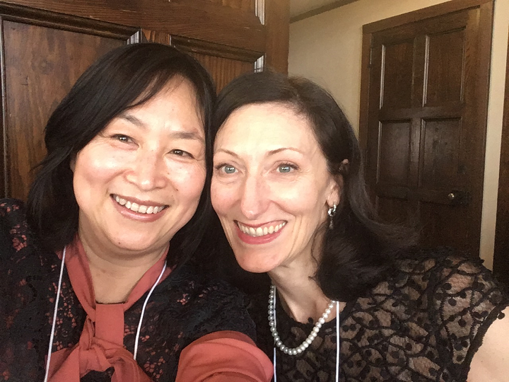 Weiqing Zhang and Department Head Maureen Tobin Stanley
