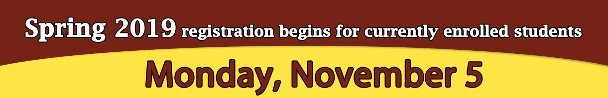 Registration begins Nov 5