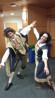 Elizabethan dancing at Shakespeare event