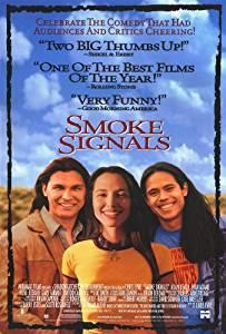 movie image. one native american woman and two native american men.