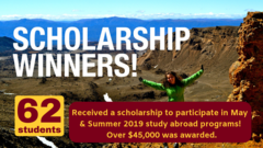 Scholarship winners for short-term abroad