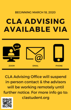 Poster: no in-person contact with advisors.